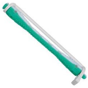 Bigudí Plástico Bicolor Verde-Blanco Largo N°7 Docena