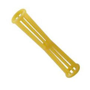 Bigudí Plástico Estriado Amarillo con Pincho Docena