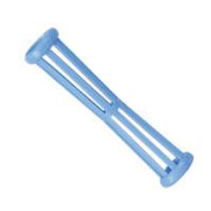 Bigudí Plástico Estriado Fino Azul con Pincho Docena
