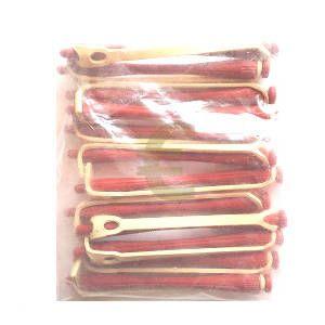 Bigudí Plástico Largo Rojo Docena