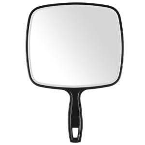 Espejo Peluquería TV Negro Grande 32×22,5cm Eurostil Profesional