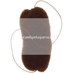 Relleno Peinados Grande con Goma Marrón