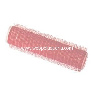Rulo Velcro Autoadherente 13mm Rojo 6 Unid