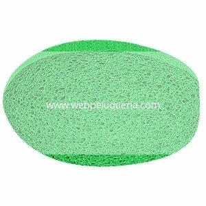 Esponja Desmaquillar Celulosa Gigante Ovalada Verde