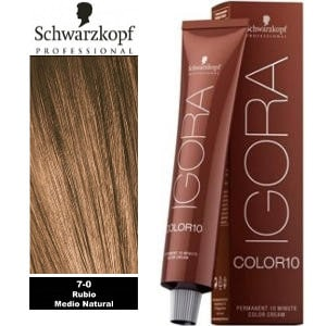 Tinte Igora Color 10 Rubio Medio Natural 7-0 Schwarzkopf 60ml