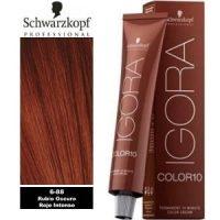 Tinte Igora Color 10 Rubio Oscuro Rojo Intenso 6-88 Schwarzkopf 60ml
