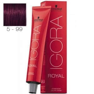 Tinte Igora Royal Castaño Claro Violeta Intenso 5-99 Schwarzkopf 60ml