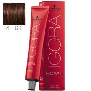 Tinte Igora Royal Castaño Medio Marrón Rojo 4-68 Schwarzkopf 60ml