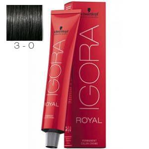 Tinte Igora Royal 3-0 Castaño Oscuro Schwarzkopf 60ml