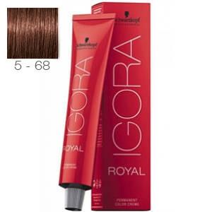 Tinte Igora Royal Castaño Claro Marron Rojo 5-68 Schwarzkopf 60ml