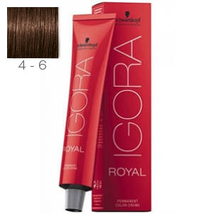 Tinte Igora Royal Castaño Medio Marron 4-6 Schwarzkopf 60ml
