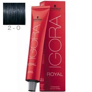 Tinte Igora Royal Negro Azul 2-0 Schwarzkopf 60ml