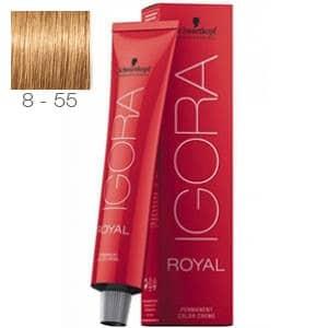 Tinte Igora Royal Rubio Claro Dorado Intenso 8-55 Schwarzkopf 60ml