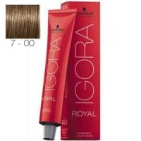 Tinte Igora Royal Rubio Medio Intenso 7-00 Schwarzkopf 60ml