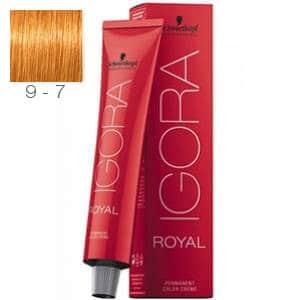 Tinte Igora Royal Rubio Muy Claro Cobrizo 9-7 Schwarzkopf 60ml