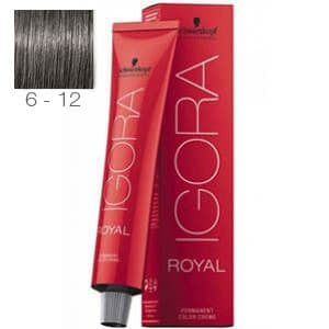 Tinte Igora Royal Rubio Oscuro Ceniza Humo 6-12 Schwarzkopf 60ml