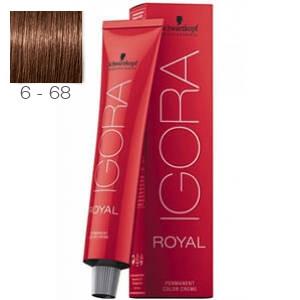 Tinte Igora Royal Rubio Oscuro Marrón Rojo 6-68 Schwarzkopf 60ml
