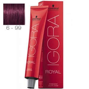 Tinte Igora Royal Rubio Oscuro Violeta Intenso 6-99 Schwarzkopf 60ml