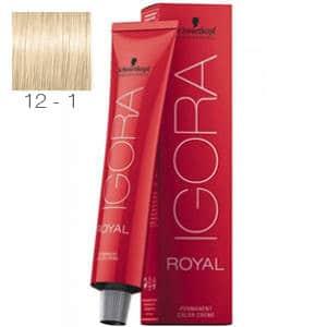 Tinte Igora Royal Superaclarante Ceniza 12-1 Schwarzkopf 60ml