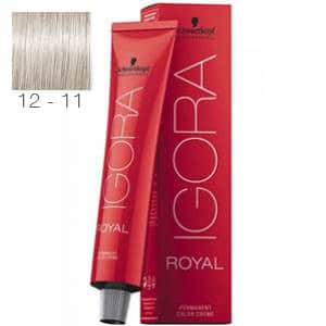 Tinte Igora Royal Superaclarante Ceniza Intenso 12-11 Schwarzkopf 60ml