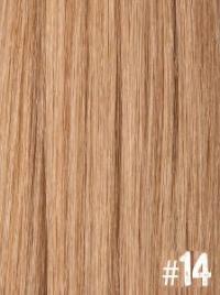 Extensiones Clip 14 Lisas Color Rubio Claro Dorado Cobrizo Remy 100% Cabello Natural