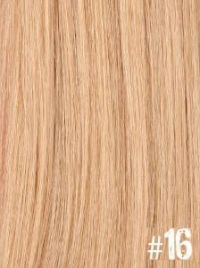 Extensiones Clip 16 Lisas Color Rubio Claro Remy 100% Cabello Natural