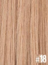 Extensiones Clip 18 Lisas Color Rubio Claro Ceniza Remy 100% Cabello Natural