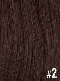 Extensiones Clip 2 Lisas Color Chocolate Remy 100% Cabello Natural
