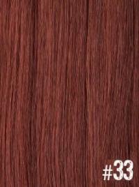 Extensiones Clip 33 Lisas Color Castaño Caoba Remy 100% Cabello Natural