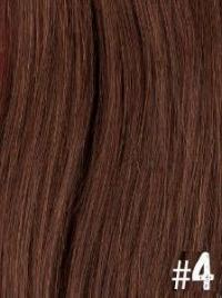 Extensiones Clip 4 Lisas Color Castaño Medio Remy 100% Cabello Natural
