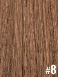Extensiones Clip 8 Lisas Color Rubio Oscuro Remy 100% Cabello Natural