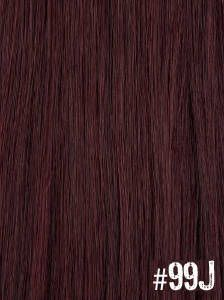 Extensiones Clip 99J Lisas Color Violín Remy 100 Cabello Natural