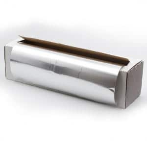 Rollo Papel Mechas Aluminio Plata con Dispensador 30cm x 300m