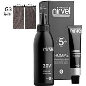 Tinte Homme Gris Oscuro Coloración Crema Hombre Nirvel
