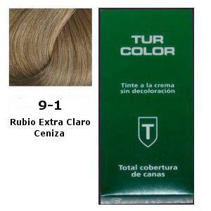 Tinte Tur 9-1 Rubio Extra Claro Ceniza
