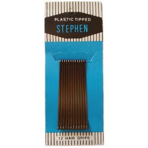 Caja Horquillas Clip lisa Bronce 4,5cm 72 Docenas Stephen
