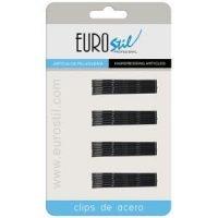 Horquilla Clip Ondulada Negra 5 cm Carton 24 Unds Eurostil