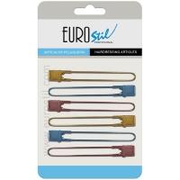 Pinza Separadora Metal Colores Cromada Carton 6 Unidades Eurostil