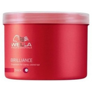 Mascarilla Brilliance Cabello Grueso Coloreado Wella Care 500ml