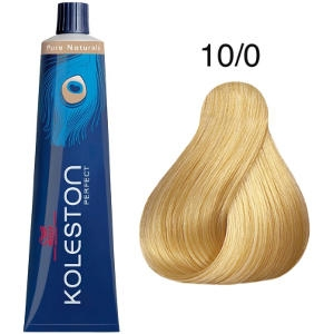 Tinte Koleston Perfect 10-0 Rubio Intenso Super Claro Pure Naturals 60ml Wella