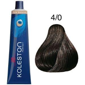 Tinte Koleston Perfect 4-0 Castaño Intenso Medio Pure Naturals 60ml Wella