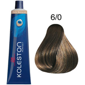 Tinte Koleston Perfect 6-0 Rubio Intenso Oscuro Pure Naturals 60ml Wella