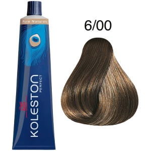 Tinte Koleston Perfect 6-00 Rubio Oscuro Natural Pure Naturals 60ml Wella