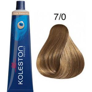 Tinte Koleston Perfect 7-0 Rubio Intenso Medio Pure Naturals 60ml Wella