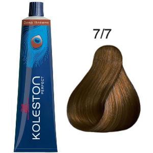 Tinte Koleston Perfect 7-7 Rubio Medio Marrón Deep Browns 60ml Wella