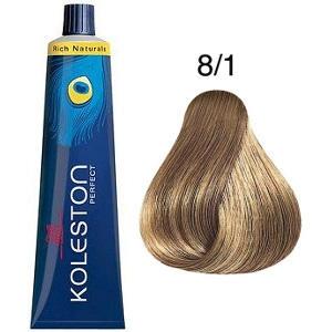 Tinte Koleston Perfect 8-1 Rubio Claro Ceniza Rich Naturals 60ml Wella