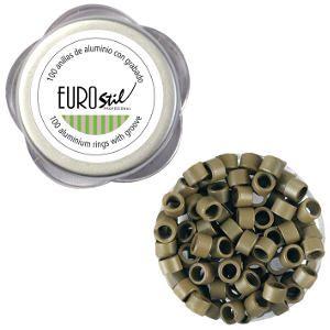 Anillas Aluminio con Grabado Rubio Oscuro 8 Eurostil