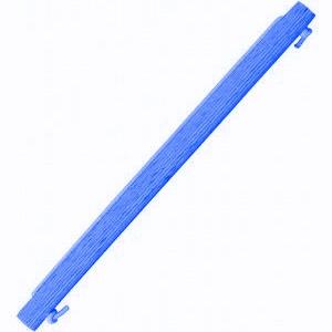 Bigudi Richi Plástico Estriado 6mm Azul 13cm 12 unidades
