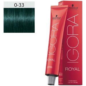 Igora Royal 0-33 Schwarzkopf 60ml Tono Mezcla Verde