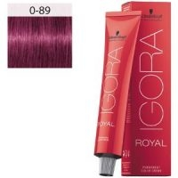 Igora Royal 0-89 Booster Mix Tono Rojo Violeta Schwarzkopf 60ml